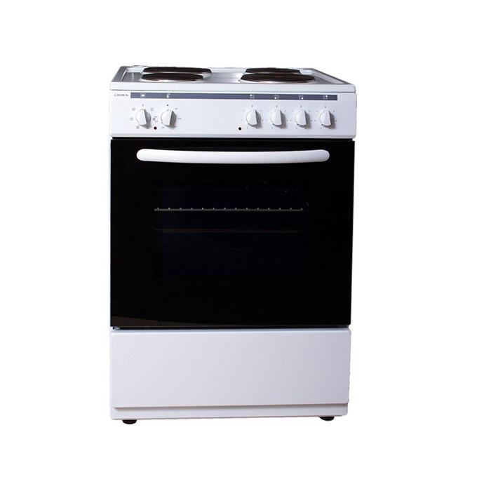 Готварска печка Crown 6410A, клас А, 4 нагреавателни зони, 56 л.вместимост на фурната, бяла image