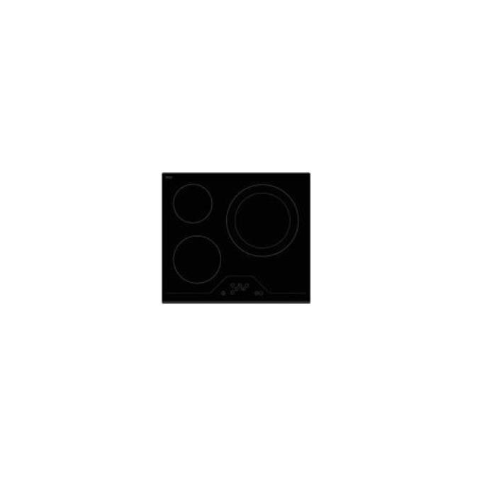 Керамичен плот за вграждане Finlux FXVT 633D, 3 нагревателни зони, сензорно управление, защита от деца, черен image