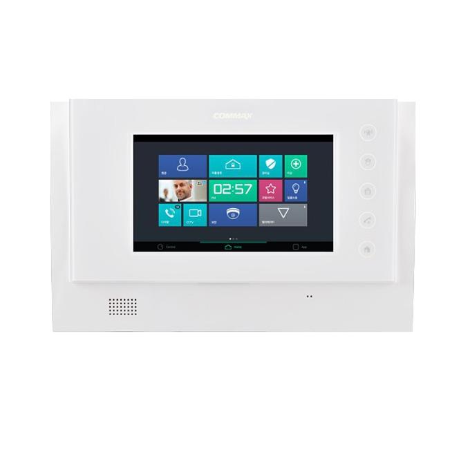 """COMMAX CAV-705U цветен видеодомофон, 7.0""""(17.78 cm) LCD сензорен дисплей, EMS система, поддръжа до 2 камери(аналогова до 70м и GateView до 300м) image"""