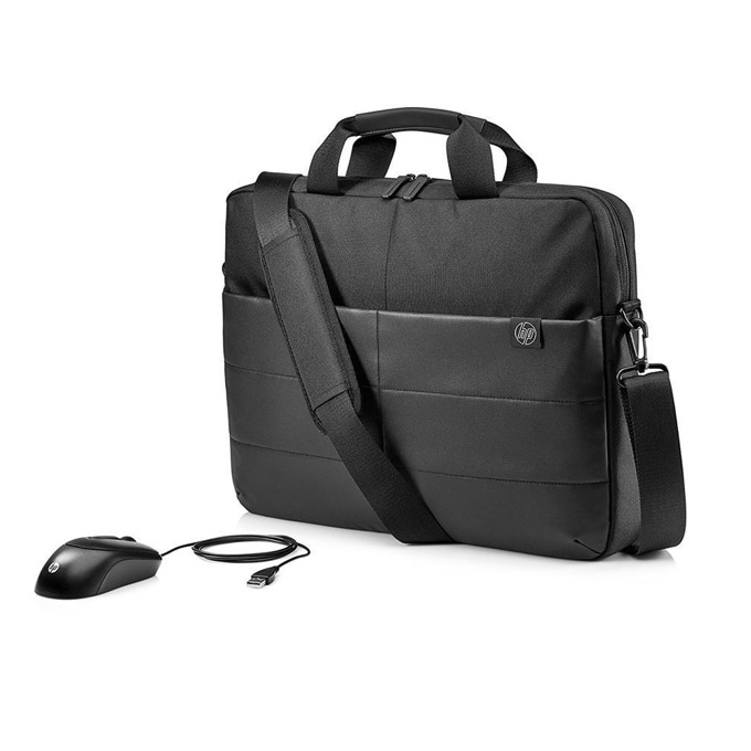 HP 15.6 Classic Briefcase and Mouse 1FK06AA