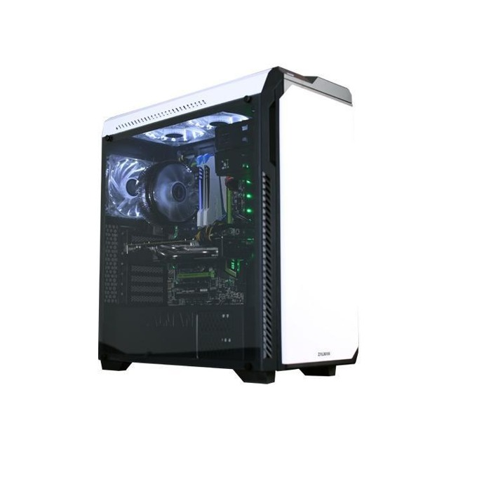 Кутия Zalman Z9 NEO Plus, ATX/mATX/miniITX, 2x USB 3.0, 2x USB 2.0, с безрамков прозорец, бяла, без захранване image