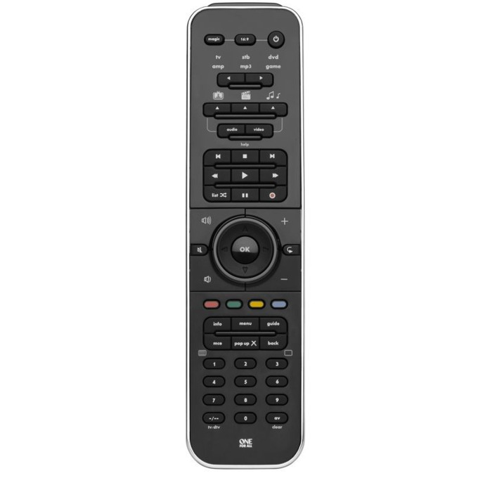 Дистанционно One For All Smart Control URC7960, контролира до 6 устройства, IR обхват 15 метра, брой бутони 51, 4 х AAA, 120g image