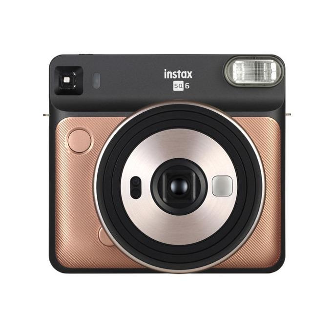 Фотоапарат Fujifilm Instax Square SQ6 (златист), моментални снимки, светкавица, Selfie Mirror image