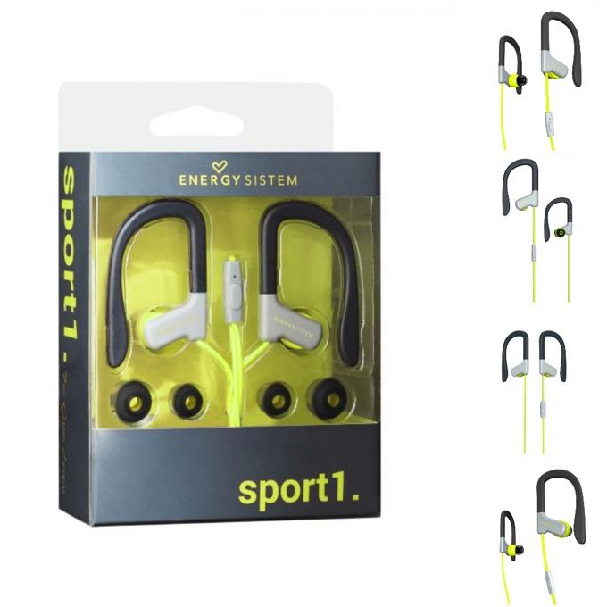 Слушалки Energy Sistem Earphones Sport 1, микрофон, жълти image