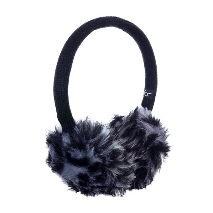 Слушалки KitSound Earmuffs Leopard, черно-бели, с ушанки image