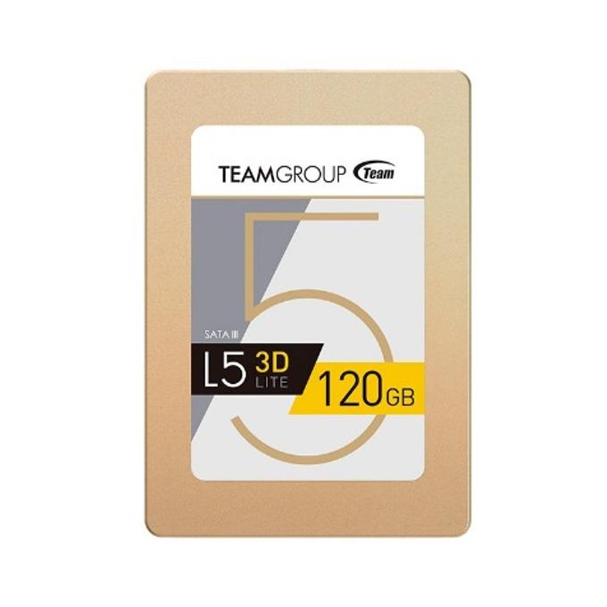"""Памет SSD 120GB TeamGroup L5 LITE 3D, SATA 6Gb/s, 2.5""""(6.35 cm), скорост на четене 470MB/s, скорост на запис 300MB/s image"""