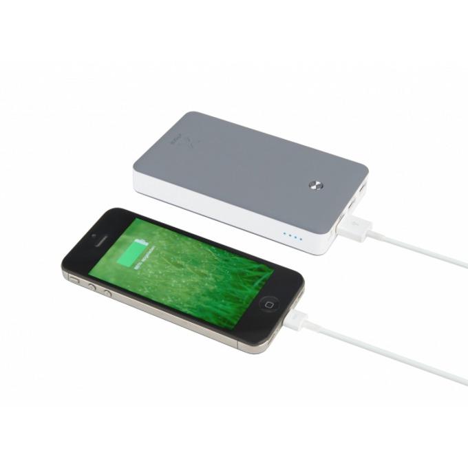 Външна батерия/power bank A-solar Xtorm Free XB102 в пакет с Gecko лампа за четене, 15000 mAh, 3x USB A(ж) порта, сива image