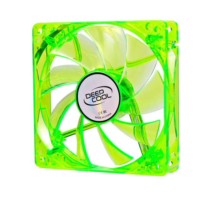 Вентилатор 120mm, DeepCool Xfan 120U G/B, Green LED, 1300rpm image
