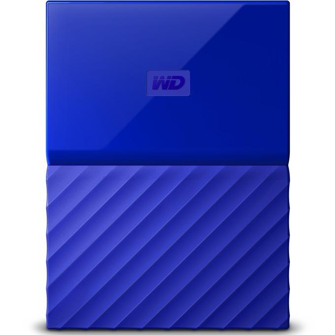"""Твърд диск 3TB Western Digital MyPassport, външен, 2.5""""(6.35cm), USB 3.0, син image"""