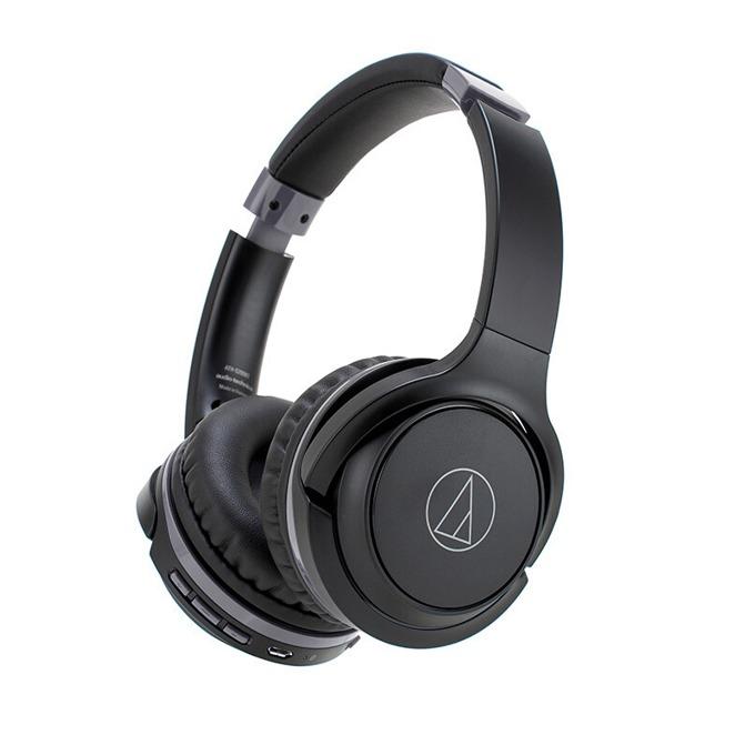 Слушалки Audio-Technica ATH-S200BTBK, безжични(Bluetooth 4.1), микрофон, бързи бутони, до 40 часа време за работа, черни image