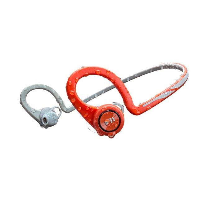 Слушалки Plantronics Backbeat FIT, безжични, влагоустойчиви, Bluetooth, червено сиви image
