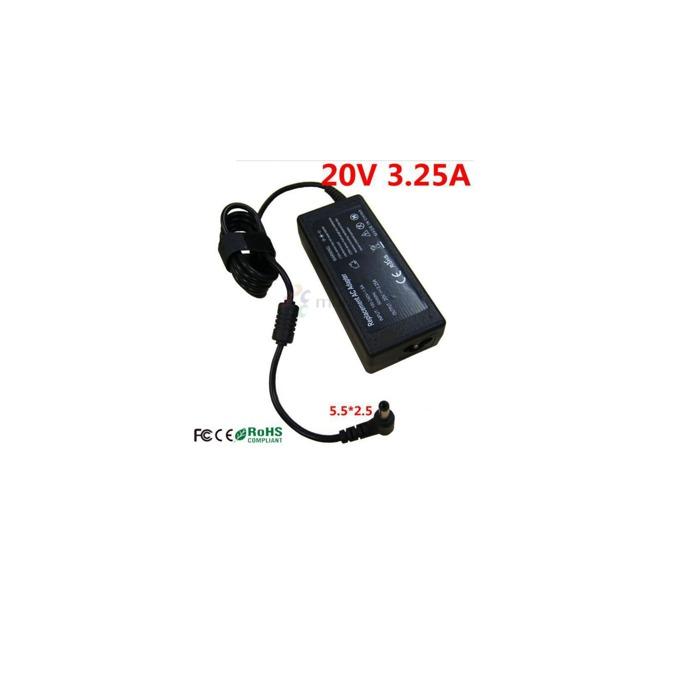 Захранване (заместител) за лаптопи Fujitsu-Siemens, 20V/3.25A/65W, жак (5.5 x 2.5) image
