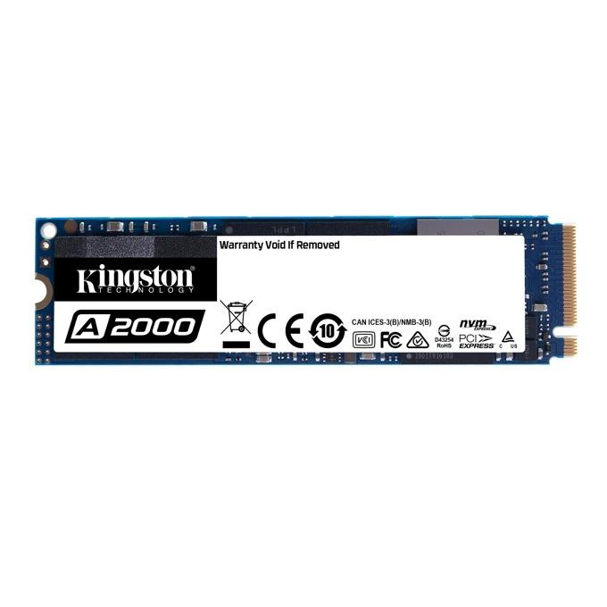 Памет SSD 1TB Kingston A2000, PCIe Nvme, M.2 (2280), скорост на четене 2,200 MB/s, скорост на запис 1,900 MB/s image