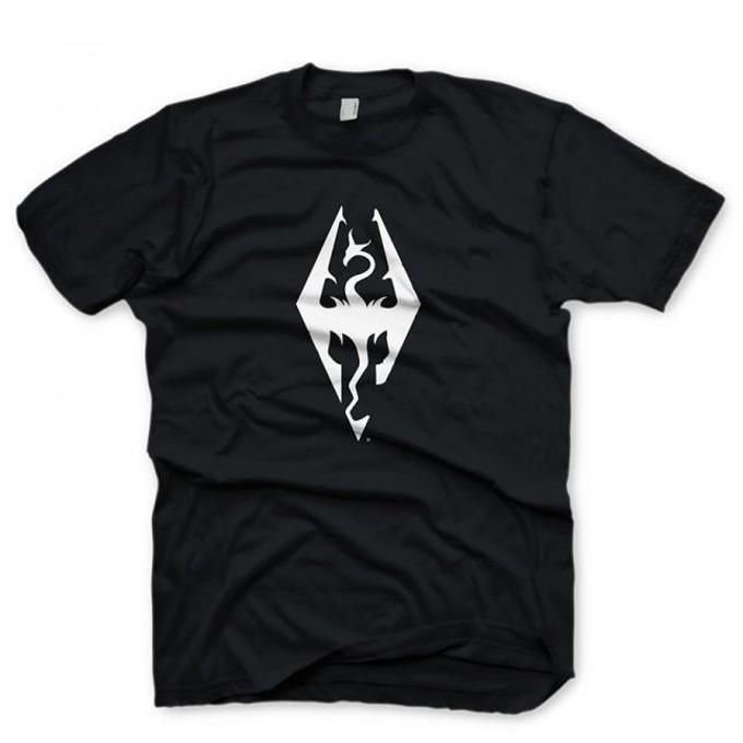 Тениска Gaya Entertainment The Elder Scrolls V: Skyrim Dragon symbol, размер M, черна image