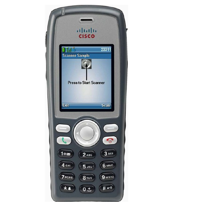 VoIP Телефон, Cisco Unified Wireless 7926G, 6 линии, цветен дисплей, безжичен, Wi-Fi image