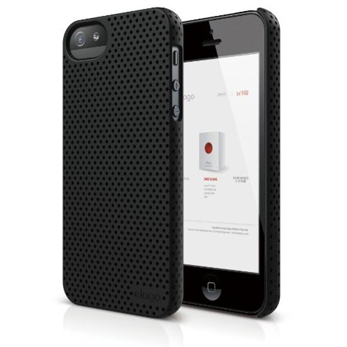 Поликарбонатов протектор Elago S5 Breathe HD покритие, за iPhone 5, iPhone 5S, черен image