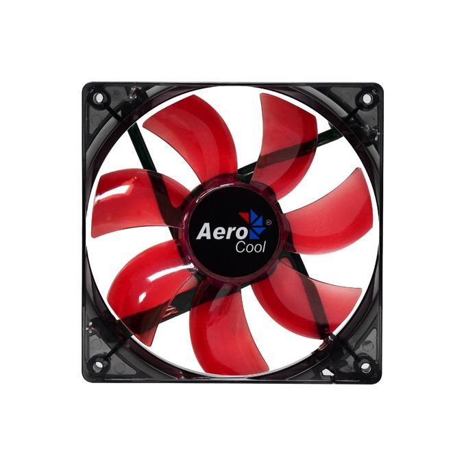 Вентилатор 120mm AeroCool Lightning Red LED, 3-pin, 1200rpm image