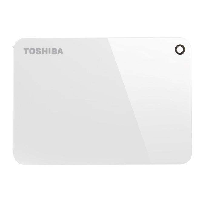 """Твърд диск 2TB Toshiba Canvio Advance (бял), външен, 2.5"""" (6.35 cm), USB 3.0 image"""