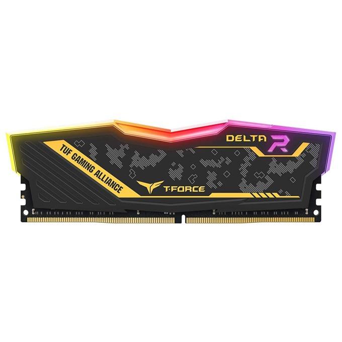 16GB (2x8GB) DDR4 2933MHz, Team Group Delta TUF RGB, TF9D416G2933HC16CDC01, 1.35V image