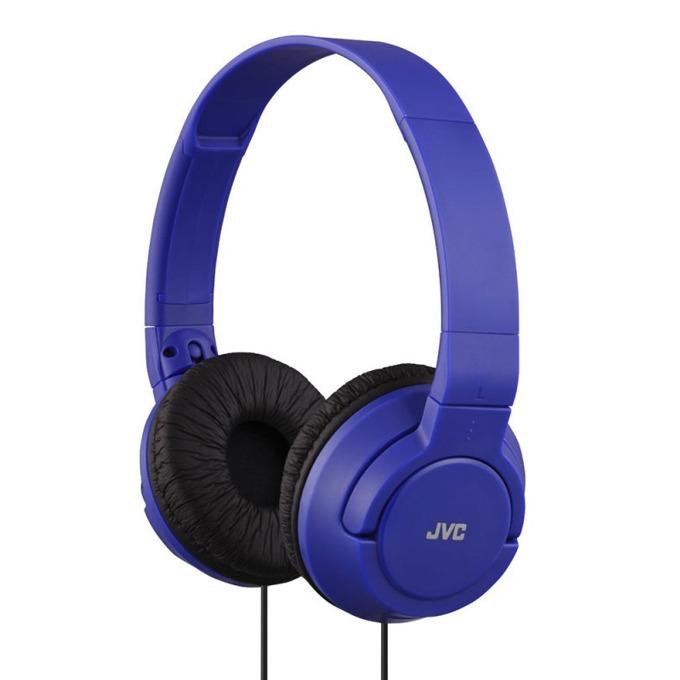 Слушалки JVC HA-S180, мощен и дълбок бас, 30мм неодимови говорители, 1.2м кабел, сини image