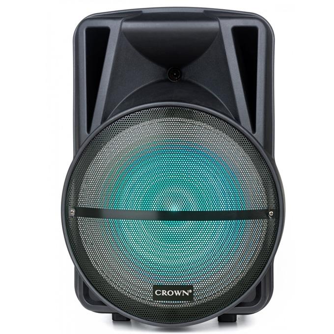 Караоке тонколона Crown XBS-450BM, 2.0, RMS(450W), Bluetooth, 2бр. безжични микрофони, USB, SD, LCD дисплей, черна image