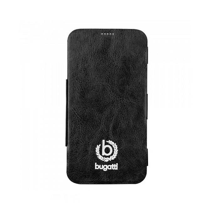Калъф за Samsung Galaxy S5 SM-G900, отваряем, естествена кожа, Bugatti BookCase Geneva, черен image