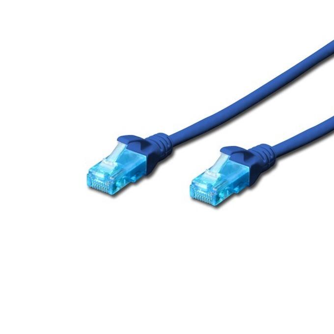 Пач кабел Digitus DK-1512-020/B, UTP, cat.5e, 2m, син image