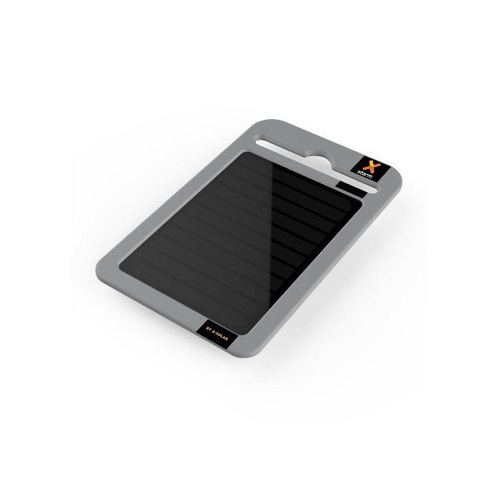 Bъншна батерия/power bank A-solar Yu AM115, 2000 mAh, miniUSB изход, cоларна, сива  image