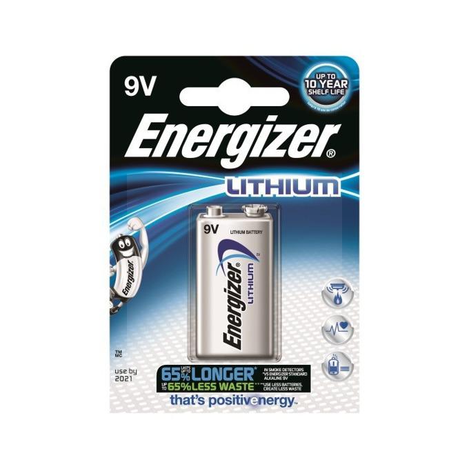 Батерия литиева Energizer Lithium, 6F22, 9V, 1200mAh, 1бр. image