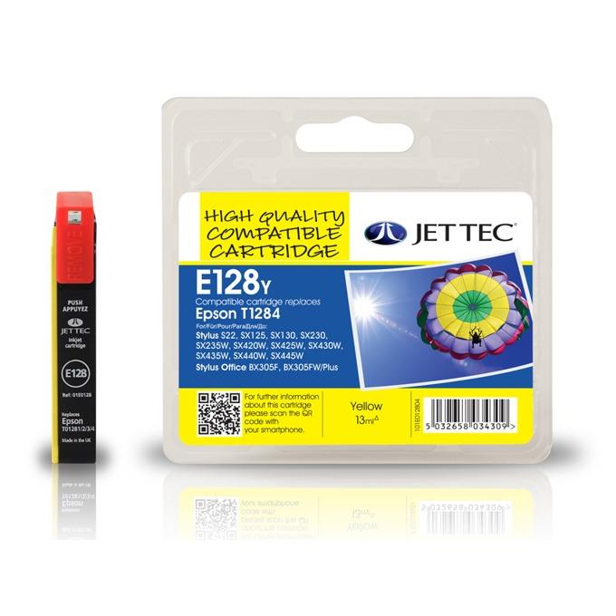 Глава за Epson T1284 - Yellow - Неоригинална - Jet Tec - Заб.: 3.5 ml image
