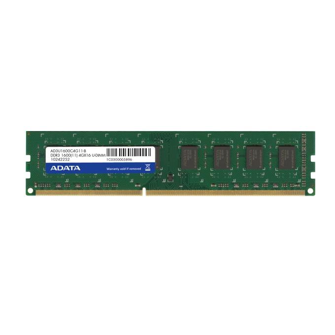 4GB DDR3 1600MHz, A-Data Premier Series AD3U1600W4G11-B, 1.5V image