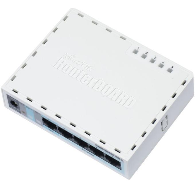 Рутер MikroTik RB750GL, 5x LAN 100/1000, 64MB RAM image