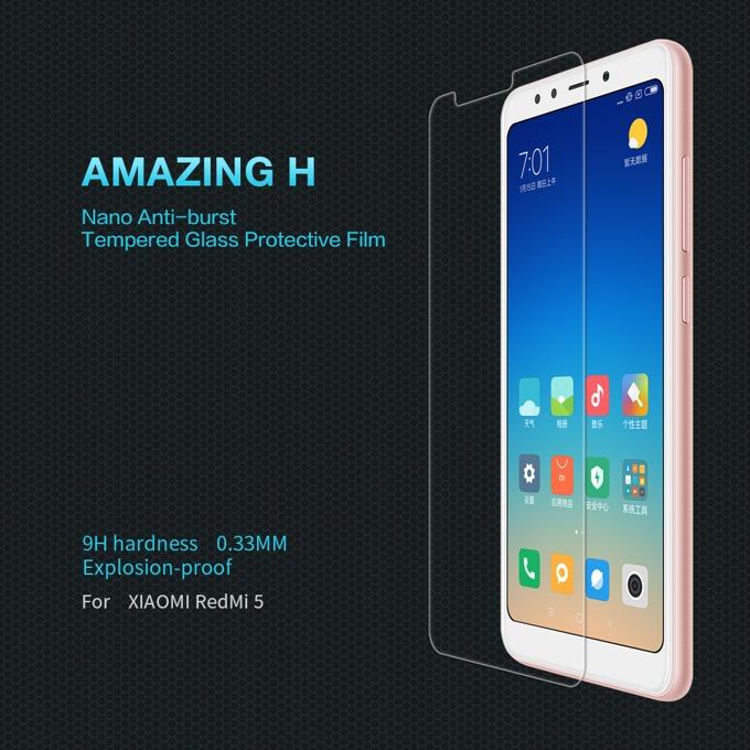Протектор от закалено стъкло/Tempered Glass/, Nillkin 9H, за Xiaomi Redmi 5A image