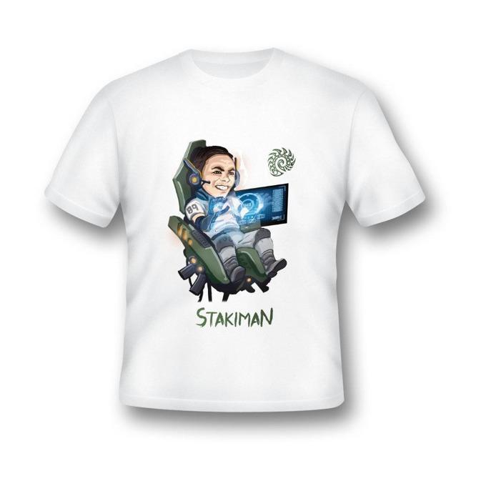 Тениска GplayTV STKMN, размер XXL, бяла image