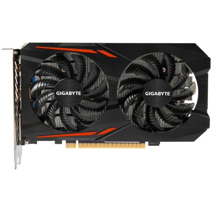 Видео карта GF GTX 1050 OC, 2GB, Gigabyte GV-N1050OC-2GD, PCI-E 3.0, GDDR5, 128bit, Display Port, HDMI, DVI image