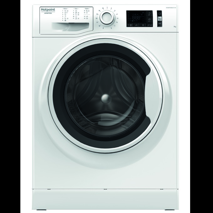Перална машина Hotpoint-Ariston NM11 744, клас А+++, 7 кг. капацитет, 1400 оборота в минута, 14 програми, свободностояща, 60 cm. ширина, бяла image