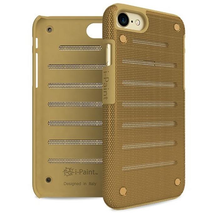 Калъф за Apple iPhone 8, стоманен, iPaint Gold MC 141002, удароустойчив, златист image