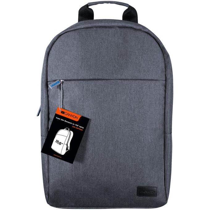 """Раница за лаптоп Canyon Super Slim Minimalistic Backpack, до 15.6"""" (39.62 cm), тъмно синя image"""