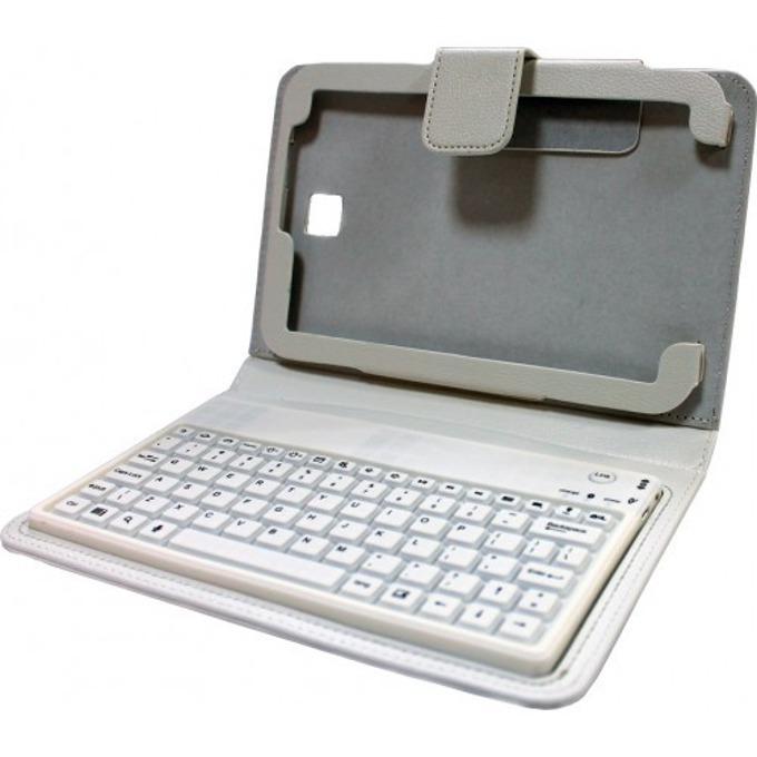 "Калъф за Samsung Tab3,BT5200, 8"" (20.3 cm), бял, с клавиатура без кирилица, Bluetooth image"