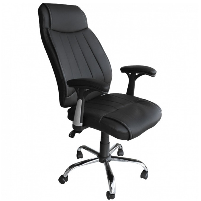 Директорски стол Andros, еко кожа, газов амортисьор, черен image