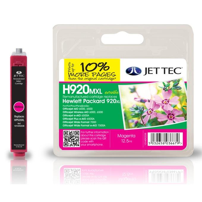 Глава за HP CD973AE - Magenta - Неоригинална - Jet Tec - Заб.: 12.5 ml image