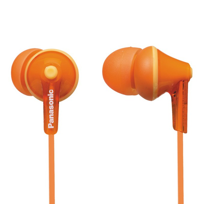 "Слушалки Panasonic RP-HJE125E, тип ""тапи"", оранжеви image"