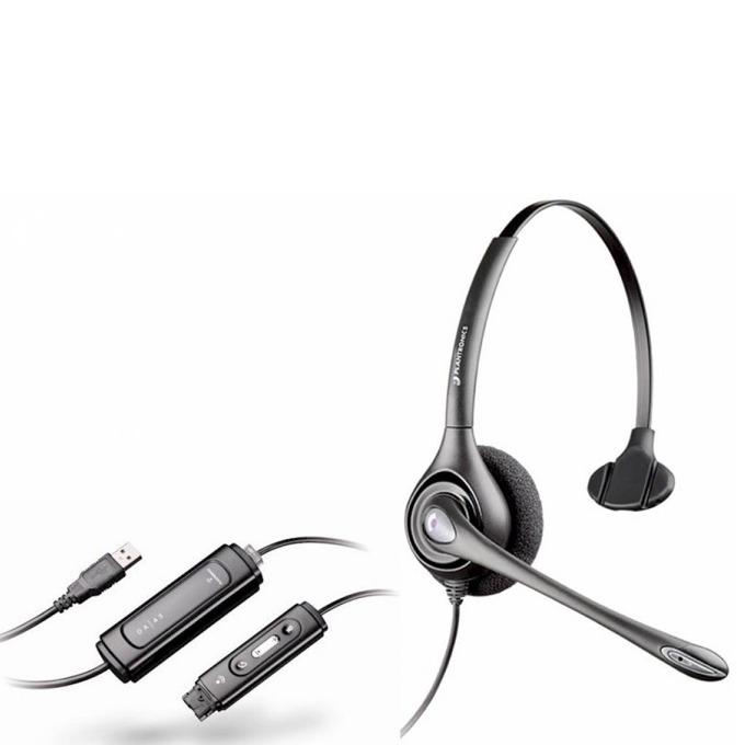 Слушалки Plantronics SupraPlus Wideband HW251N/DA-M, шумо-изолиращ микрофон, DSP, QD функция, USB image