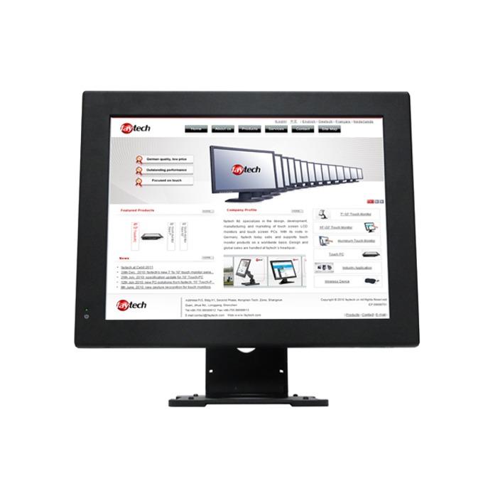 """Индустриален компютър Faytech Resistive Touch PC (FT15J1900W4G64G), 15"""" (38.1 cm) мулти-тъч сензорен Anti-glare дисплей, четириядрен Bay Trail Intel Celeron Processor J1900 2.00/2.42 GHz, 4GB, 64GB SSD, 1x USB 3.0, Linux Ubuntu image"""