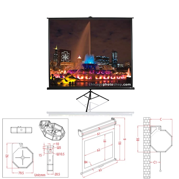 Екран Elite Screens 152.4 x 152.4 cm