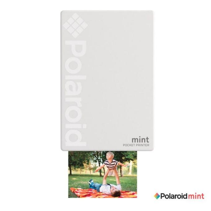 Мобилен принтер Polaroid Mint, цветен термичен фотопринтер, Bluetooth, A2 формат, Bluetooth, Zero Ink технология, micro USB, бял image