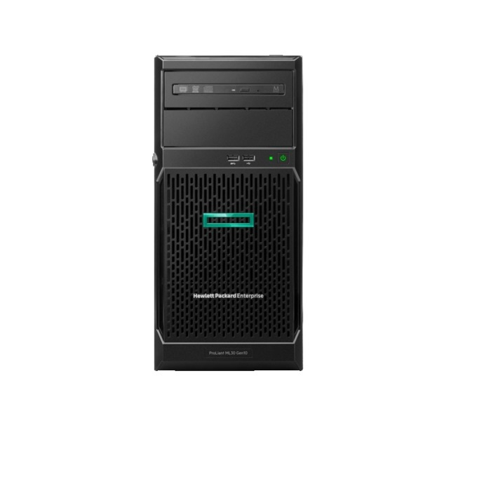 Сървър HPE ProLiant ML30 G10 ENTML30-002, четириядрен, Intel Xeon E-2124 3.3GHz, 8GB DDR4 UDIMM, 1TB SATA, 1x VGA, 1x USB 2.0, 1x NP(RJ-45), 6x USB 3.0, 350W захранване image