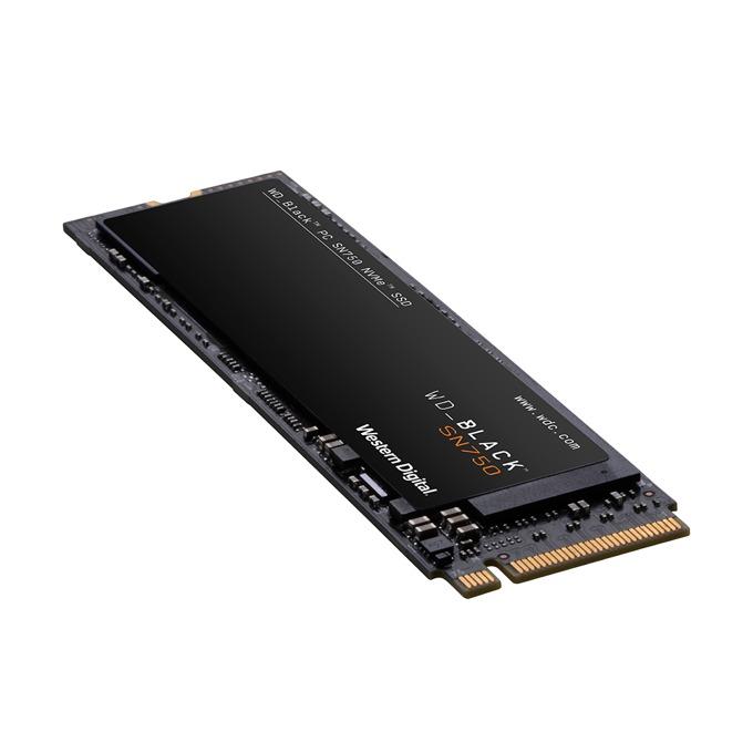 SSD 500GB, WD Black SN750, PCIe Gen3 8 Gb/s, M.2, скорост на четене 3470MB/s, скорост на запис 2600MB/s, image