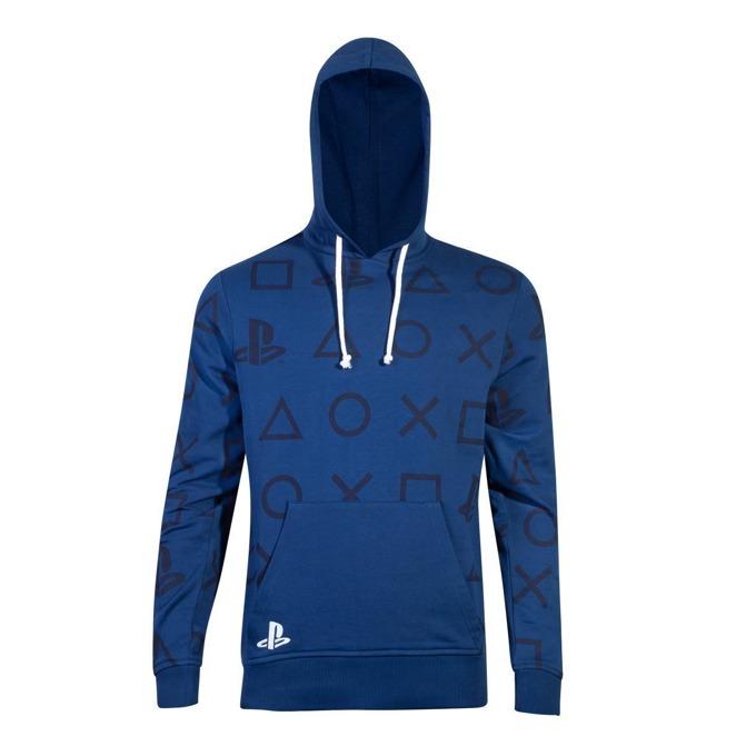 Суитшърт Bioworld PlayStation AOP Icons, мъжки, размер M, син image