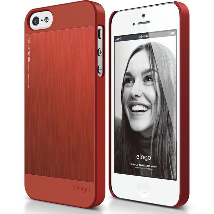 Алуминиев протектор Elago S5 Outfit Matrix за iPhone 5 и iPhone 5S, червен image